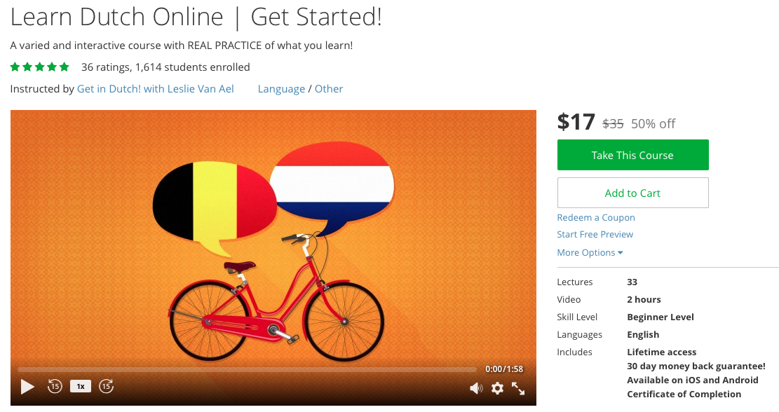 LearnDutchToday Online course